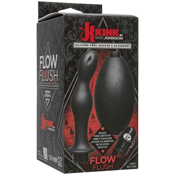 Kink - Flow Full Flush - Silicone Anal Douche & Accessory Анальный душ